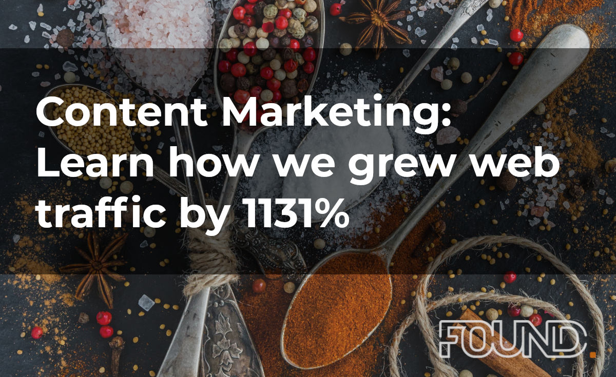 Content Marketing: Lean how we grew web traffic by 1131%