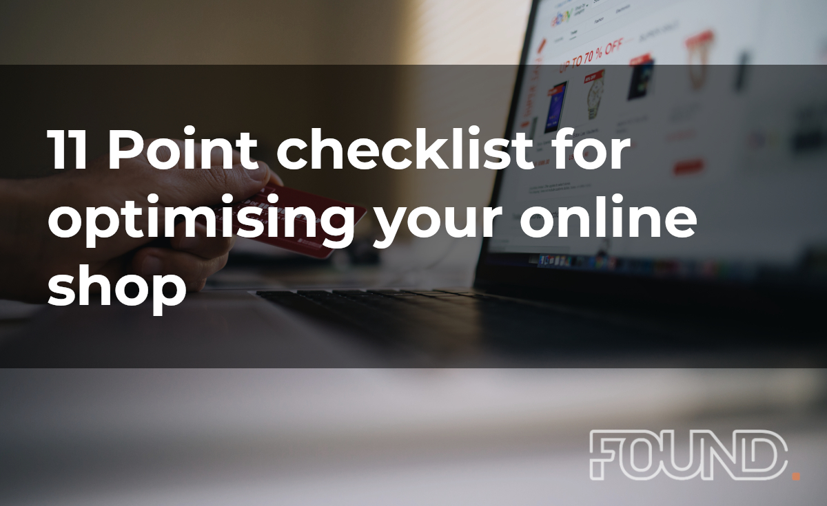 11 Point checklist for optimising your online shop