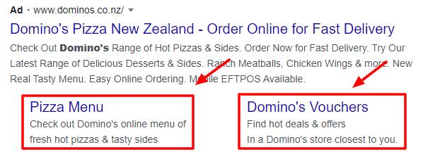 Domninos google ad extensions