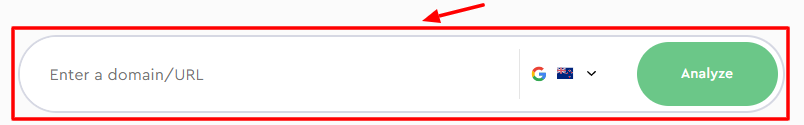 SE Ranking search bar