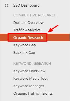 SEM Rush Organic Research